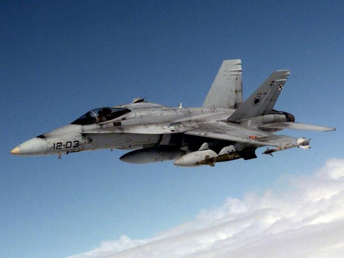 ślady eksploataci hiszpańskiego EF-18