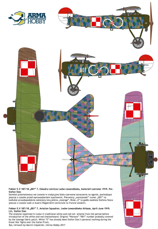 malowanie Fokker E.V por Steca